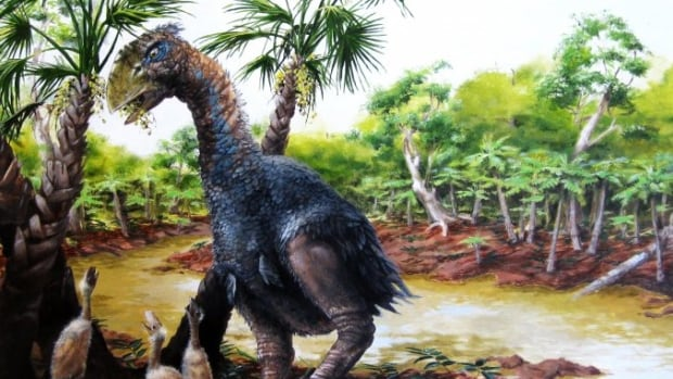 Meet Gastornis, a giant, flightless bird that roamed around what's now known as Nunavut, munching on nuts and seeds more than 50 million years ago.