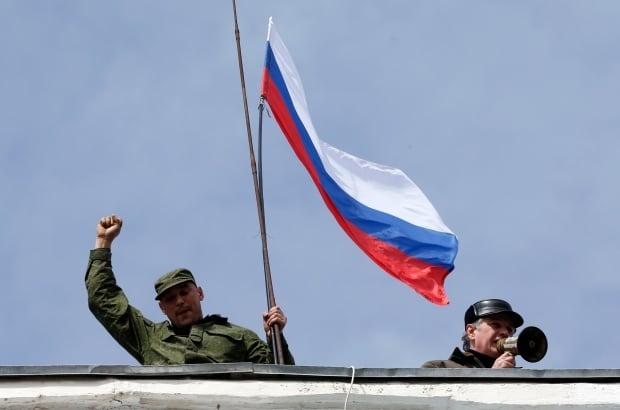 UKRAINE-CRISIS/SEVASTOPOL-FLAGS