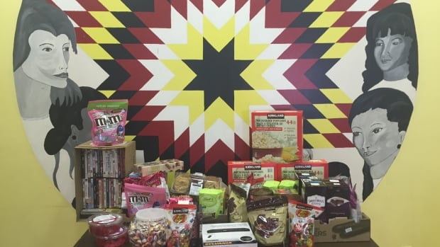 Those staying at the North End Women's Centre received movies and tasty treats for Valentine's Day as part of a Facebook fundraising campaign.
