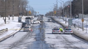 Tobermory Finch Ave W fatal collision ped struck