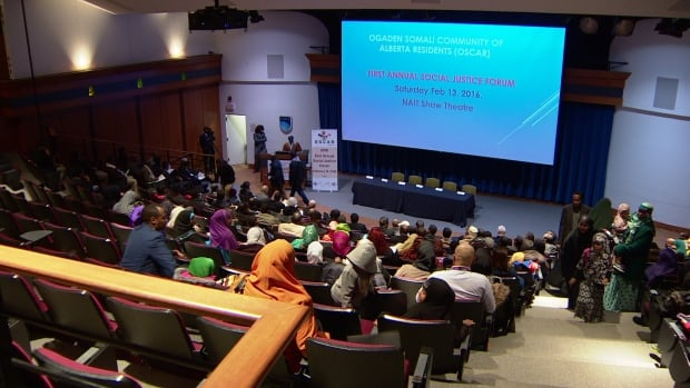 Around 200 people came to the Shaw Theatre at NAIT to discuss radicalization.