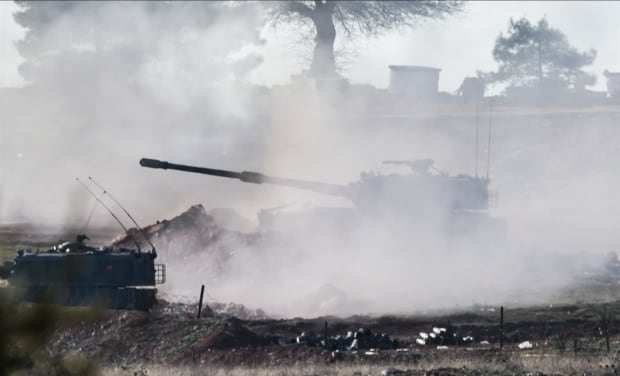 Turkey Azaz Syria border shelling