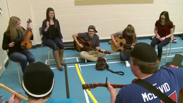 Acadian youth from Îles-de-la-Madeleine and P.E.I. connect over traditional music this weekend in Abrams Village.