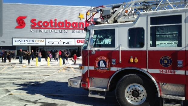 Halifax Fire responded to the Scotiabank Theatre in Bayers Lake on Monday afternoon after a water pipe burst.