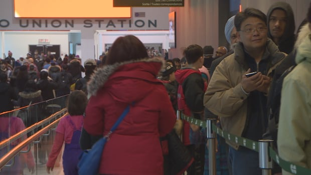 Thousands lined up for hours on Monday at Toronto's Union Station just for the chance to try out the Union Pearson Express for free.