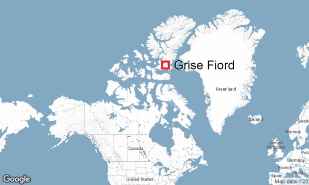 Grise Fiord map