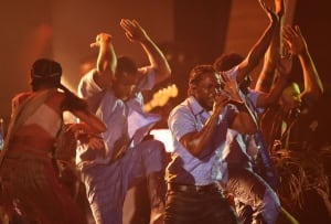 58th Grammy Awards Kendrick Lamar performs