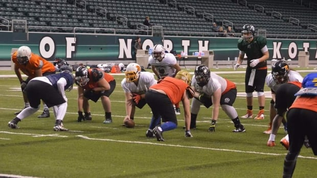 Elite football players aged 14 to 20 took part in a Grand Forks football camp over the weekend.