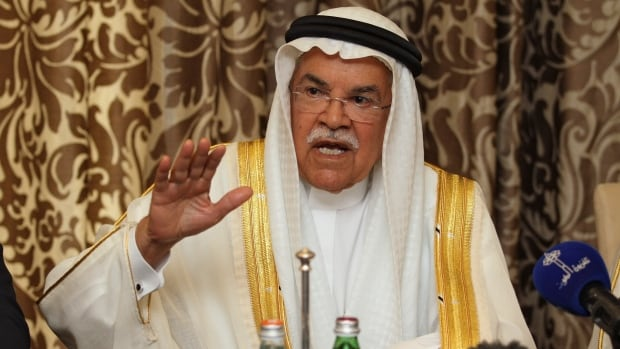 Saudi Arabia's Oil Minister Ali al-Naimi at a news conference following a meeting in Doha, Qatar February 16, 2016.