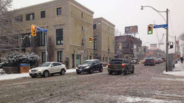 Toronto police are warning motorists to drive carefully today amidst snow and messy road conditions.