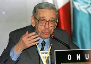UN SECRETARY GENERAL BOUTROS BOUTROS-GHALI