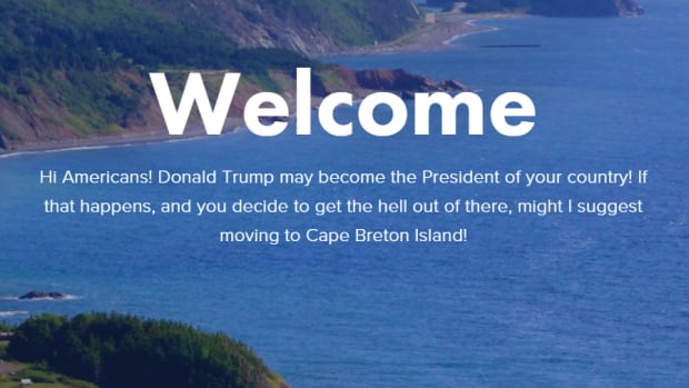 A website set up by Rob Calabrese pitches Cape Breton as a refuge for Americans fleeing a Donald Trump presidency.