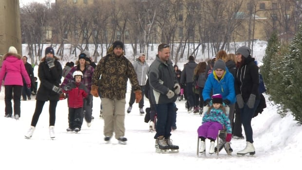 The Forks counted 18,000 skaters on the Red River Mutual Trail on Louis Riel Day.