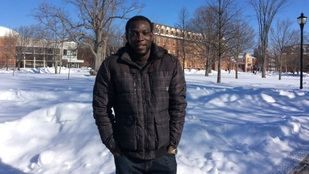 UPEI student Caleb Ofoegbu hopes to graduate in May, if his family can transfer the tuition he needs from Nigeria.