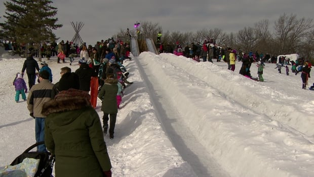 Helmets are mandatory for children under 18 at the Festival du Voyageur this year.