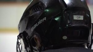 'Cip' label on River East Marauders helmet