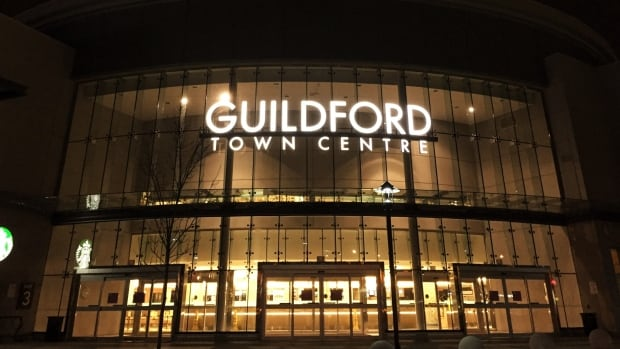 An employee of The Bay at Guildford Town Centre in Surrey was sent to hospital after a stabbing in the parking lot of the mall.