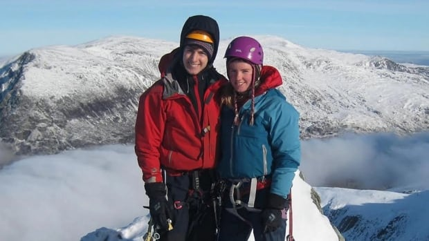 Rachel Slater, right, and her partner Tim Newton have been missing from the Ben Nevis mountain area of Scotland since the weekend, despite a large scale search and rescue. Slater lived in Calgary between 2005 and 2009 and her parents still do.