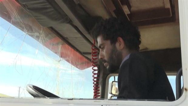 Mohamed Jimon in truck