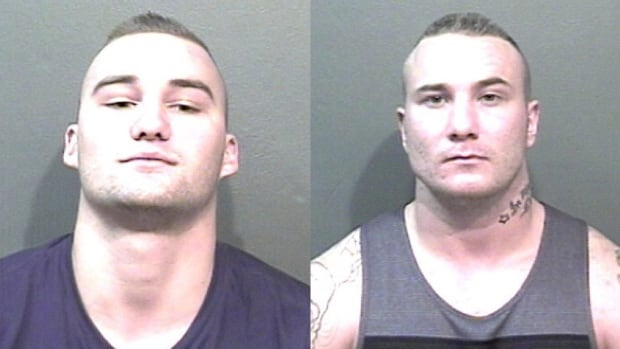 Dana Mikael Hendrick Schaper-Kotter (r), one of seven suspects accused of operating a drug trafficking ring out of Chilliwack, B.C., handed himself in on Thursday. But police are still asking for the public's help to find fellow suspect Lucas Benjamin Thiessen (l).