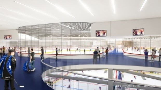 Northlands rendering Rexall convert multi-ice rinks