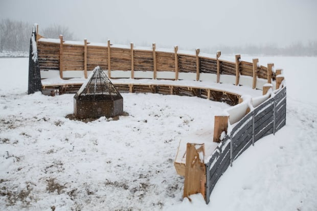 winter stations fire pit douglas cardinal