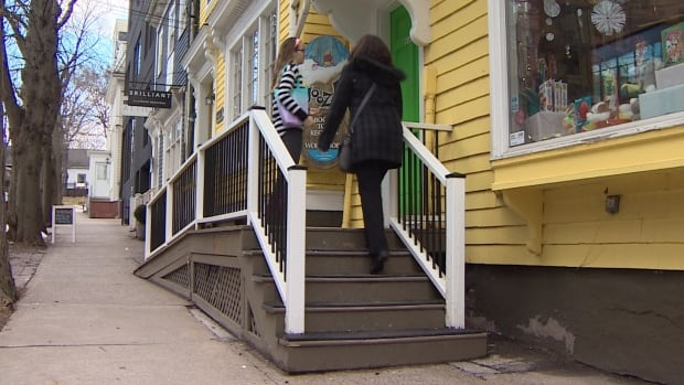 Woozles Children's Bookstore pays an annual fee because its ramp encroaches on the sidewalk.