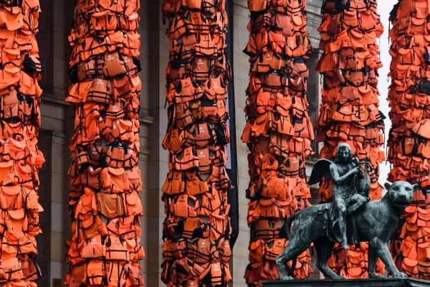 Ai Weiwei art installation refugees