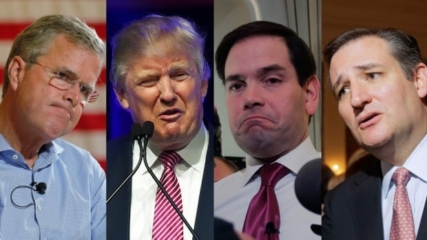 Republican presidential candidates, from left: Jeb Bush, Donald Trump, Marco Rubio and Ted Cruz. As the Republican field is winnowed further and the campaign heads into South Carolina, attacks, insults, and political dirty tricks are expected to ramp up ahead of Saturday's primary.