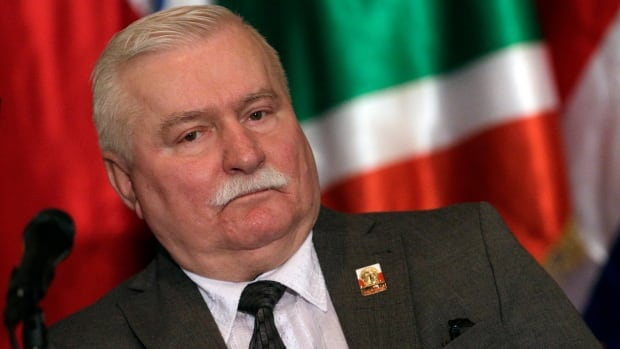 Former Polish president and 1983 Nobel Peace Prize laureate Lech Walesa attends a news conference after the special session of the National Assembly in Caracas, Venezuela in this Thursday photo. Walesa has denied allegations he was an informer for Poland's former communist regime.