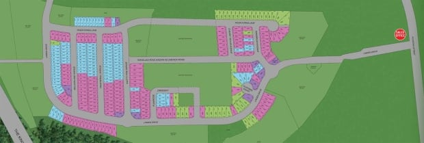 Site plan for Brookpoint Estates in Cambridge