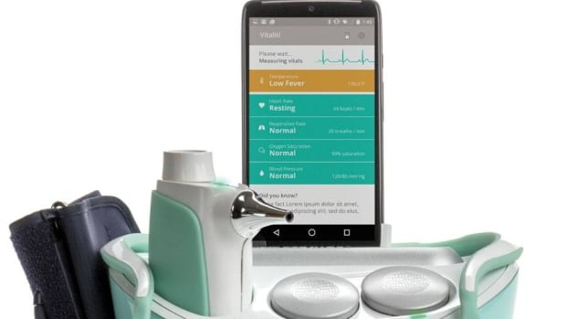 The Vitality Tricorder system, the Cloud DX entry in the Tricorder XPRIZE contest