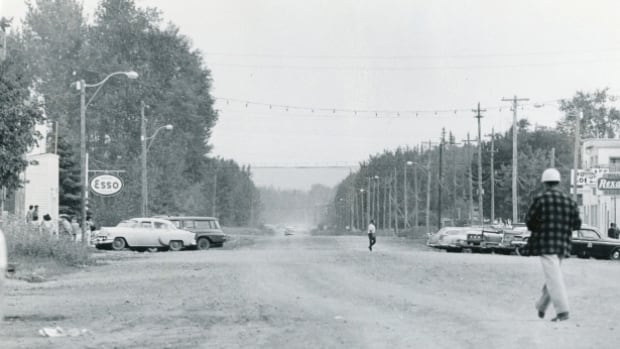 Fort McMurray's downtown in the early 1960s. About 2,000 people called the town home when Jack Avery and his wife, Olga, arrived in 1966.