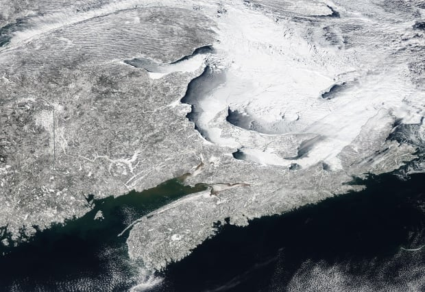 Satellite image of Maritimes on Feb. 27, 2015