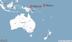 Nauru and Manus Islands