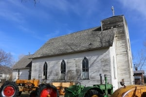 St.Vincent de Paul church in Stavely, Alta.