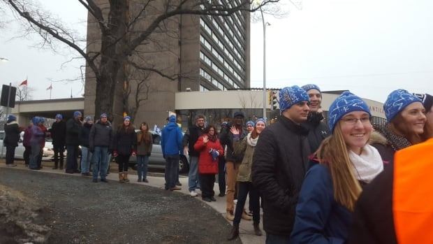 Dozens of supporters in Halifax bundled up and participated in the Coldest Night of the Year walk on Saturday.