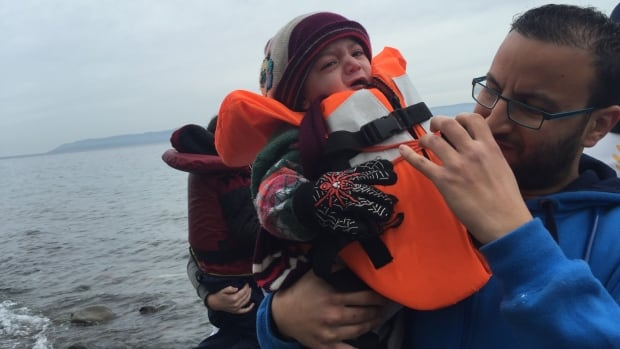 Every single day boatloads full of desperate and frightened migrants, many with babies, rush towards the shore of Lesbos after crossing the Aegean Sea.