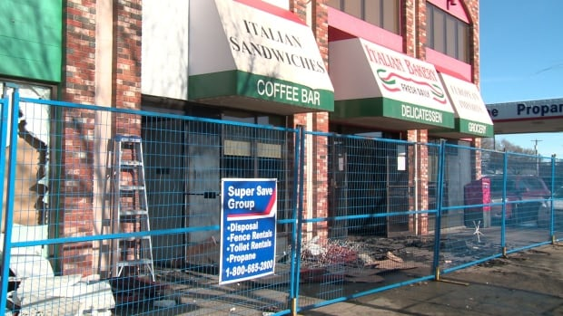 The popular Italian Bakery on 118 Avenue was left charred Sunday morning after an overnight fire.