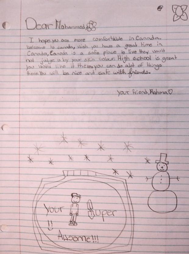 Rahma letter to syrian teen toronto