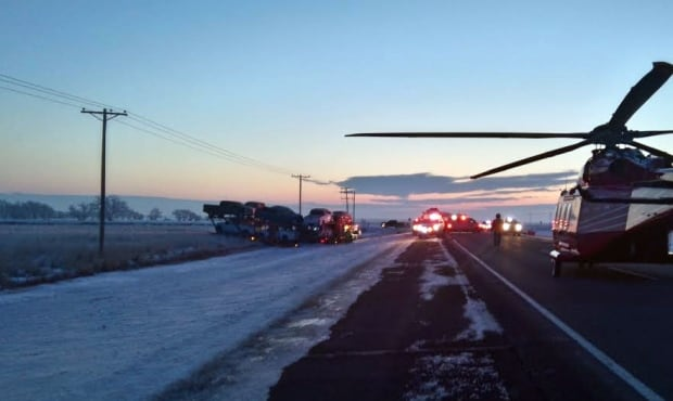 Air ambulance near Borden, Sask.