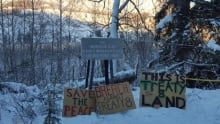 Site C protest camp