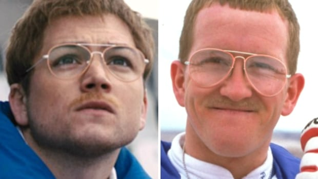 "Left: Actor Taron Egerton, Right: Eddie ""The Eagle"" Edwards"