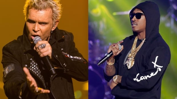 Billy Idol (left) and Future (right) are both set to perform at Bluesfest in Ottawa in July 2016.
