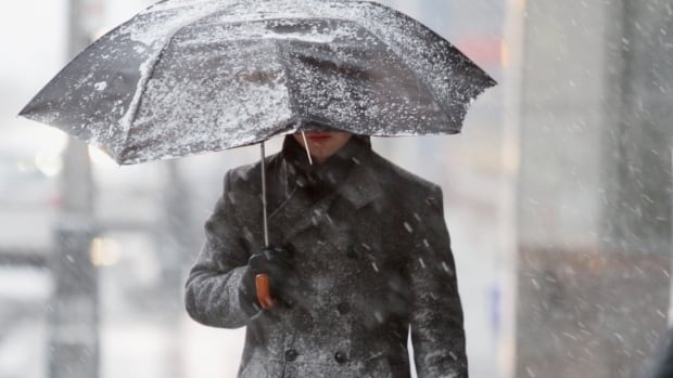 Environment Canada said a low pressure system will slowly track across the region on Saturday bringing messy weather to all parts of New Brunswick.