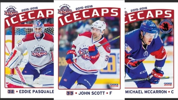 The St. John's IceCaps new 12-player hockey card set will feature NHL All-Star Game MVP and fan favourite John Scott.