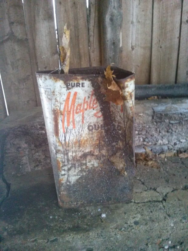 Old maple syrup tin, Bury Quebec