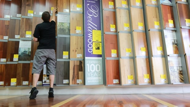 Lumber Liquidators' stock sold off after the Center for Disease Control says some of the laminate flooring the company sells is a higher risk of causing cancer than previously thought.