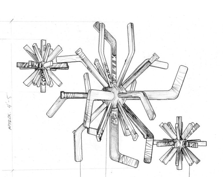 Hockey Sticks Needed For Dandelion Forks Sculpture Cbc News
