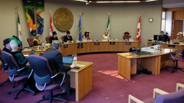 Several councillors were dressed in costumes at city council on Monday, to mark at this week's annual Yukon Sourdough Rendezvous.
